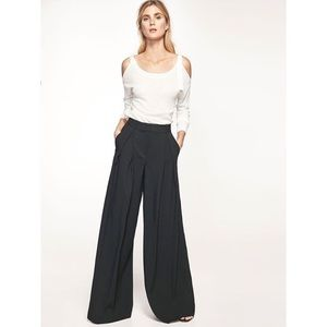 Massimo Dutti High Rise Wide Leg Black Trousers 8